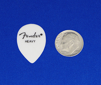 Fender 358 Heavy Gauge Jazz Picks in White