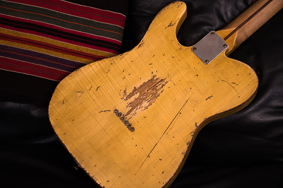 Rear of Carson Hess's Replica of Danny Gatton's 1953 Telecaster
