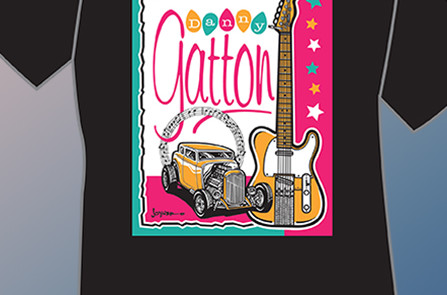 Danny Gatton 1st Tribute T-Shirt by Ronnie Joyner