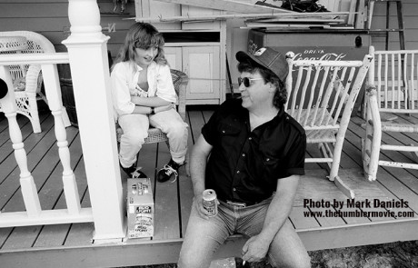 Holly Gatton and Danny Gatton on their porch May 1990.